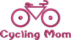 Cycling Mom embroidery design