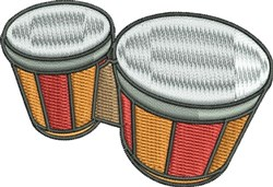 Bongos embroidery design