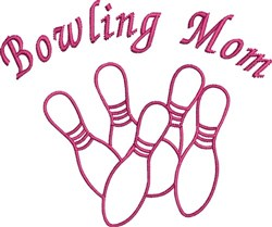 Bowling Mom embroidery design