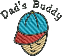 Dads Buddy embroidery design