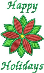 Happy Holidays Flower embroidery design