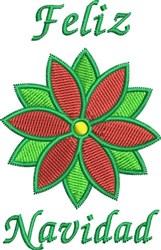 Feliz Navidad Flower embroidery design
