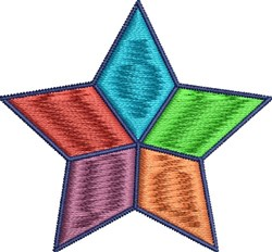 Colorful Star embroidery design