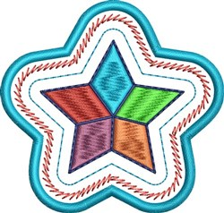 Color Star embroidery design