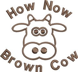 Brown Cow Outline embroidery design