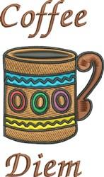 Coffee Diem embroidery design