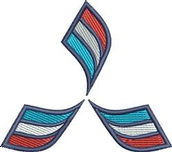 Triple Swoosh embroidery design