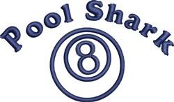 Pool Shark embroidery design