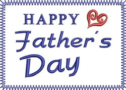 Fathers Day Square embroidery design