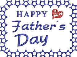 Fathers Day Stars embroidery design