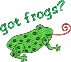 Got Frogs embroidery design
