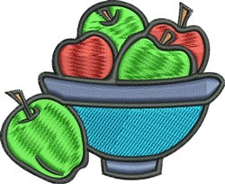 Fruit Bowl embroidery design