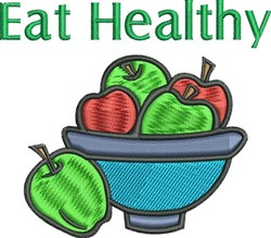 Eat Healthy embroidery design