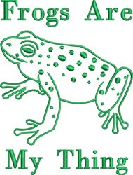 Frogs My Thing embroidery design