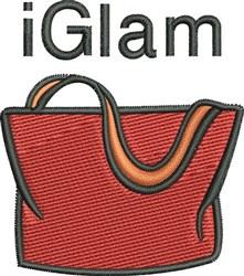 I Glam embroidery design