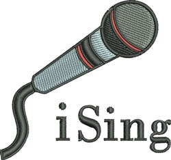 I SIng embroidery design