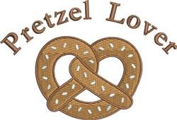Pretzel Lover embroidery design