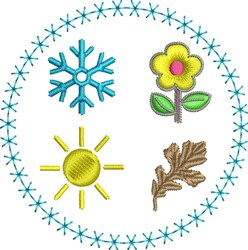 4 Seasons embroidery design
