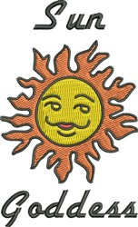 Sun Goddess embroidery design