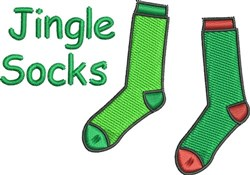 Jingle Socks embroidery design