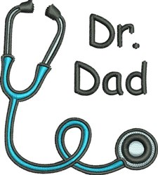 Dr Dad embroidery design