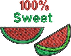 100% Sweet embroidery design