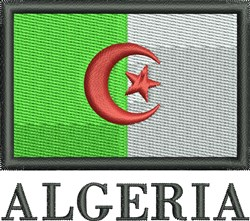 Algerian Flag embroidery design