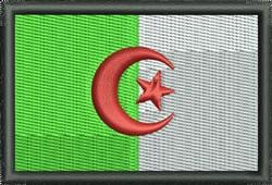 Flag of Algeria embroidery design