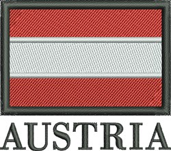 Flag of Austria embroidery design