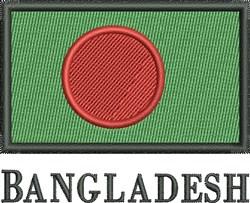 Bangledesh Flag embroidery design