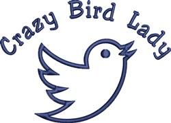 Crazy Bird Lady embroidery design
