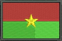 Flag Of Burkina Faso embroidery design
