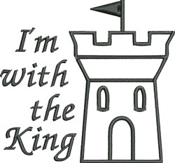 With The King embroidery design