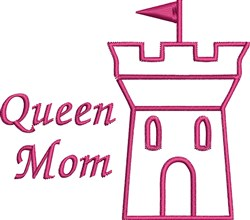 Queen Mom embroidery design