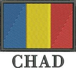 Chad Flag embroidery design