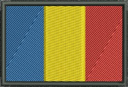 Flag Of Chad embroidery design