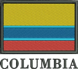 Colombia Flag embroidery design