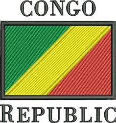 Congo Republic Flag embroidery design