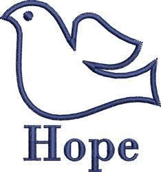 Hope Dove embroidery design
