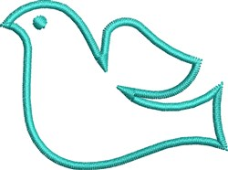 Dove Outline embroidery design