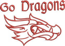 Go Dragons embroidery design