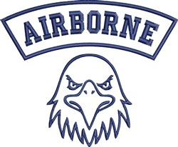 Airborne embroidery design