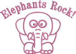 Elephants Rock embroidery design