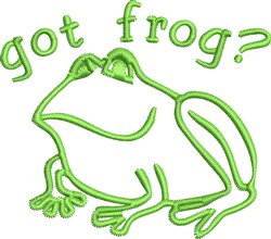 Got Frog embroidery design