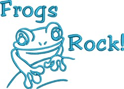 Frogs Rock embroidery design