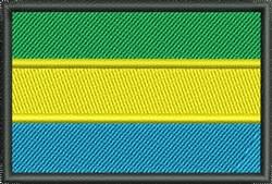 Flag Of Gabon embroidery design