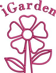 I Garden embroidery design