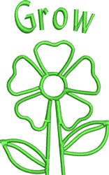 Grow Flower embroidery design