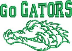 Go Gators embroidery design