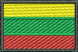 Flag Of Lithuania embroidery design
